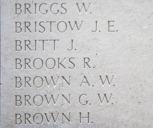 Chatteris WW1 Soldier Robert Brooks (20258). Chatteris Remembers Biography
