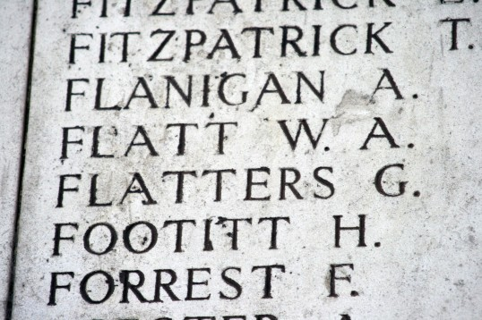 Chatteris WW1 Soldier William Alfred Flatt (17058). Chatteris Remembers Biography