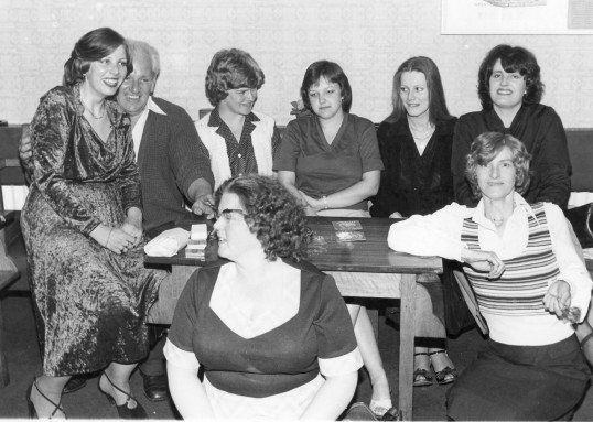 Ladies at the Honest John Darts evening. Stuart Stacey collection.