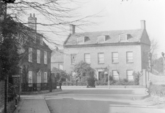 View from Station Road of Ivy House now Demolished, Stuart Stacey Collection.