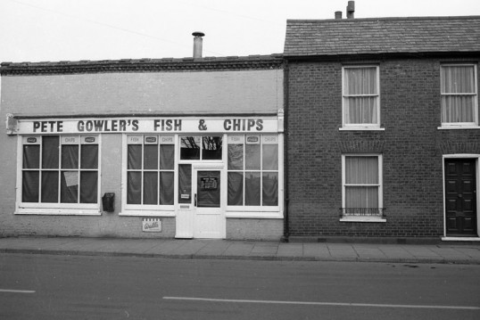 Pete Gowler's Fish & Chips Shop. Stuart Stacey Collection