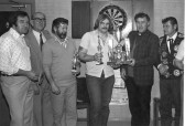 Stuart Stacey collection photo of Darts winners at the Honest John