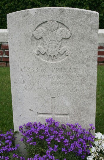 Chatteris WW1 Soldier Harry Walter Breckon MM (533358). Chatteris Remembers Biography