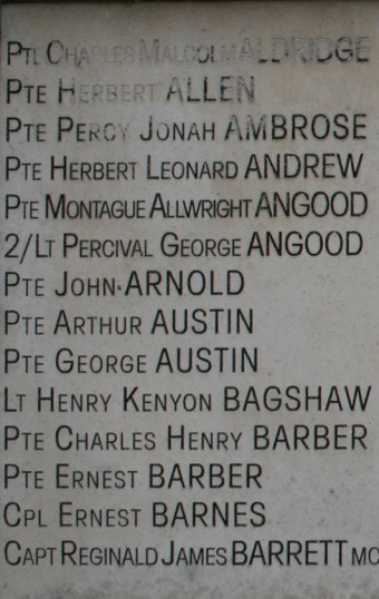 Chatteris WW1 Soldier Percy Jonah Ambrose 57793. Chatteris Remembers Biography