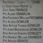 Chatteris WW1 Soldier Alfred Gowler (40555). Chatteris Remembers Biography