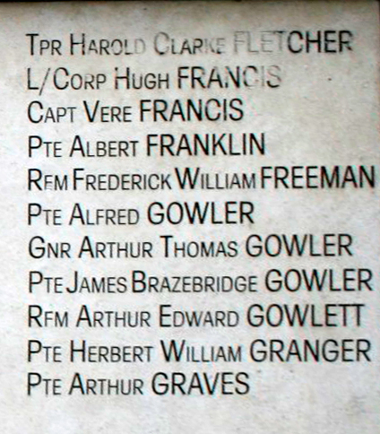 Chatteris WW1 Soldier Arthur Edward Gowlett A/200577. Chatteris Remembers Biography