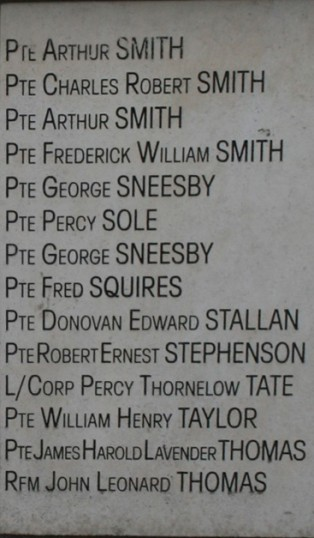 Chatteris WW1 Soldier William Henry Taylor 16848. Chatteris Remembers Biography