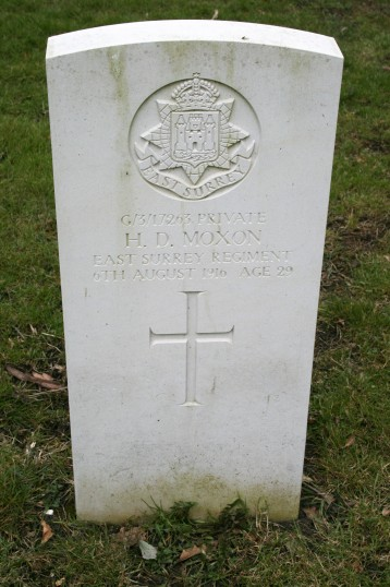 Chatteris WW1 Soldier Herbert Moxon (G3/17263). Chatteris Remembers Biography
