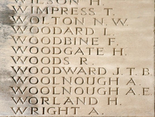 Chatteris WW1 Soldier Fred Woodbine 4995. Chatteris Remembers Biography