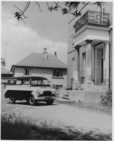 Chatteris House with Bedford Van