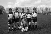 Group of young footballers pose for photograph-Stuart Stacey Collection