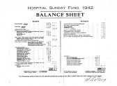 Hospital Sunday 1942 Finance