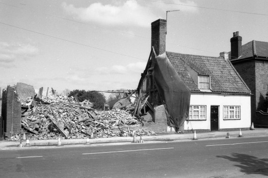 Demolished residence, Chatteris-Stuart Stacey Collection