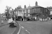Roadworks in Market Hill,Chatteris-Stuart Stacey Collection