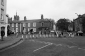 Market Hill  Chatteris, closed off for Roadworks-Stuart Stacey Collection