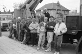 Erecting Chatteris Christmas Lights-Stuart Stacey Collection