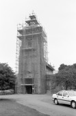 St Peter & St Paul Church Chatteris during restoration of Tower- Stuart Stacey Collection