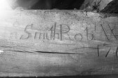 Names carved in Timbers of Chatteris Church. Stuart Stacey collection