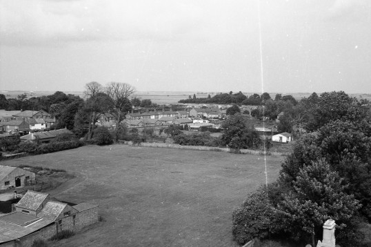 View of Land before Boudicea Court Estate, Chatteris was built. Stuart Stacey collection