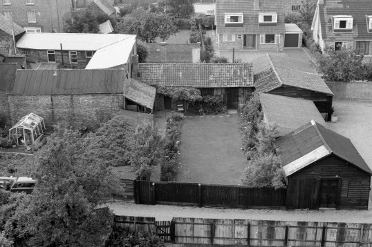 Aerial view of Domestic  Dwellings   Chatteris-Stuart Stacey Collection