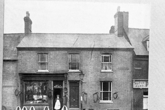 Saddlers  Leather shop in Market Hill, Chatteris-Stuart Stacey Collection