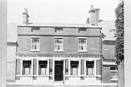 National Provincial Bank & Union Bank of England Ltd, Market Hill Chatteris-Stuart Stacey Collection