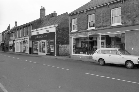 Parade of shops in High Street, Chatteris-Stuart Stacey Collection