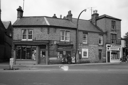 Park Street/Market Hill Chatteris, Confectioners shop & Woolwich Building Society-Stuart Stacey Collection