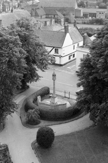 Aerial view from St Peters & St Pauls  Church Tower, Chatteris-Stuart Stacey Collection