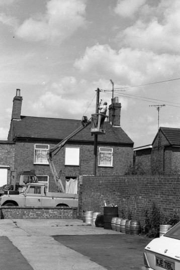 Repairing Telegraph pole in Chatteris-Stuart Stacey Collection