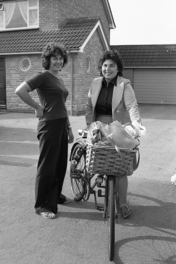 Ladies pose for photograph, Chatteris-Stuart Stacey Collection