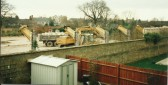 Demolition in preparation for the George Clare Surgery. Off New Rd Chatteris.