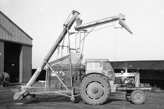 Agricultural machinery,Grain filler-Stuart Stacey Collection
