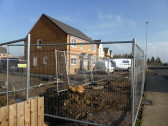 Houses under construction in New Road,Chatteris