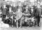 Early Chatteris railway station staff