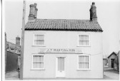 Martin's Builder's Undertaker's premises on High Street Chatteris - formerly The Wheel Public House