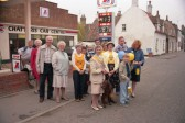 Sponsored Walk for Cancer Charity outside the Chatteris Car Centre, High Street, Chatteris