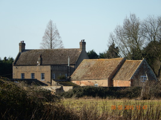 Looking towards the rear of the old Manor House in Wenny Road Chatteris