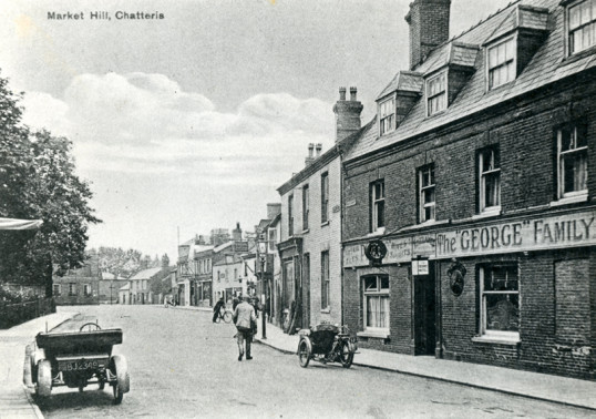 Postcard of Market Hill collected by Stuart Stacey