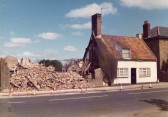 Demolition of property in High Street, Chatteris-Stuart Stacey Collection