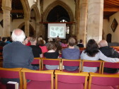 Nick Ashton (British Museum) gives a talk in St Peter & St Paul Church