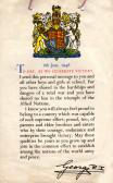 World war 2 school certificate from the king