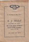 Gift Bag, K.J Mitchell jewellers 58 &60 High St