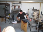 Glass Blowing by Stewart Hearn London Glassworks, Chatteris, Heritage Week.
