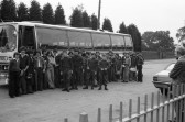 Pupils Coach trip outside Cromwell school-Stuart Stacey Collecton