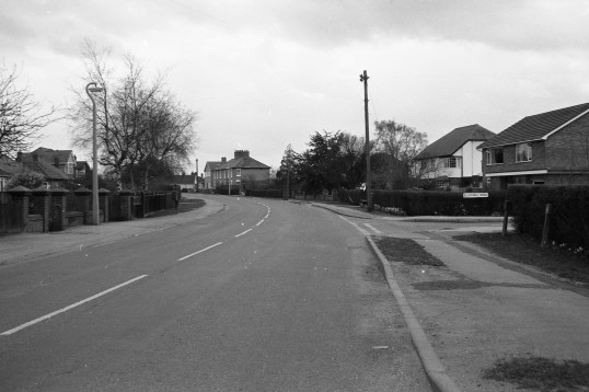 London Road with Blackmill Road on the right, Chatteris- Stuart Stacey Collection