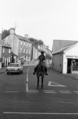 Horserider at junction of New Road Chatteris-Stuart Stacey Collection