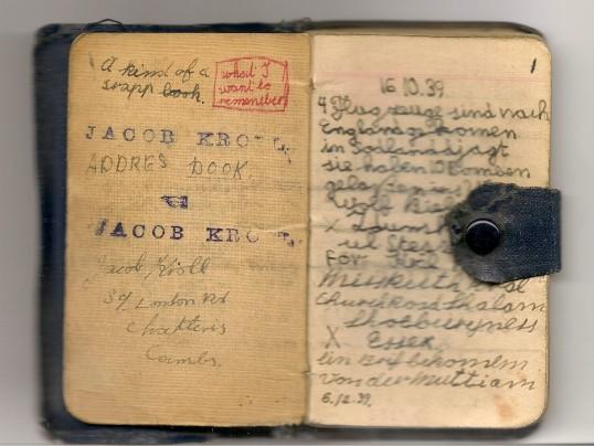 Evacuee's notebook Westmoor House