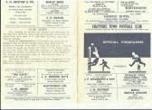 Chatteris Town Football Club Programme 1969