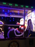 Santa on the Rotary Club of Chatteris Christmas Sleigh 2015